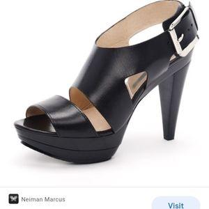 NEW Michael Kors Leather Platform Sandal